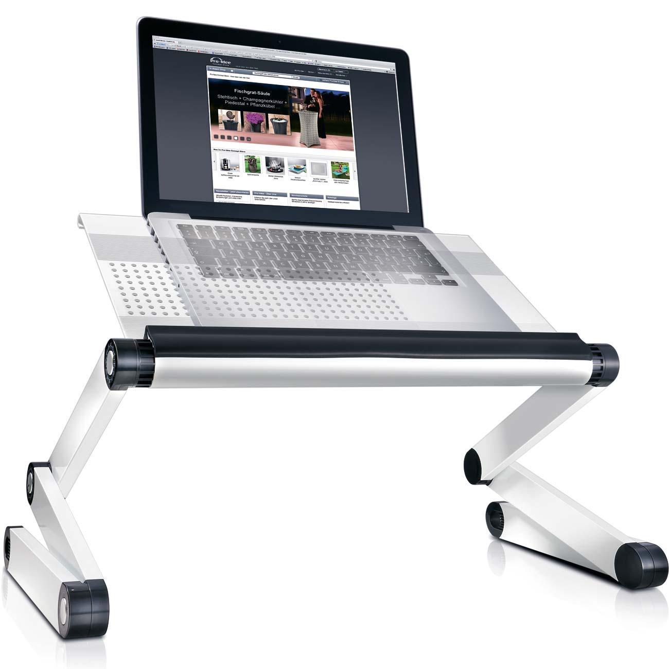 Vario laptoptisch f rs bett 3 jahre garantie pro idee for Beistelltisch usb