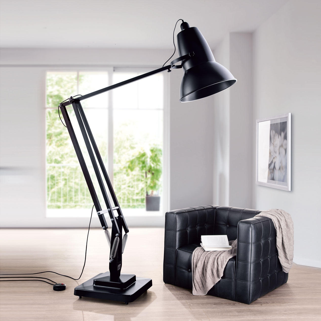 anglepoise stehleuchte giant 1227 mit 3 jahren garantie. Black Bedroom Furniture Sets. Home Design Ideas