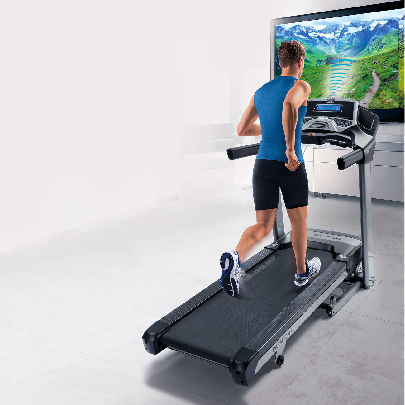 horizon fitness laufband paragon 6 inkl media player. Black Bedroom Furniture Sets. Home Design Ideas