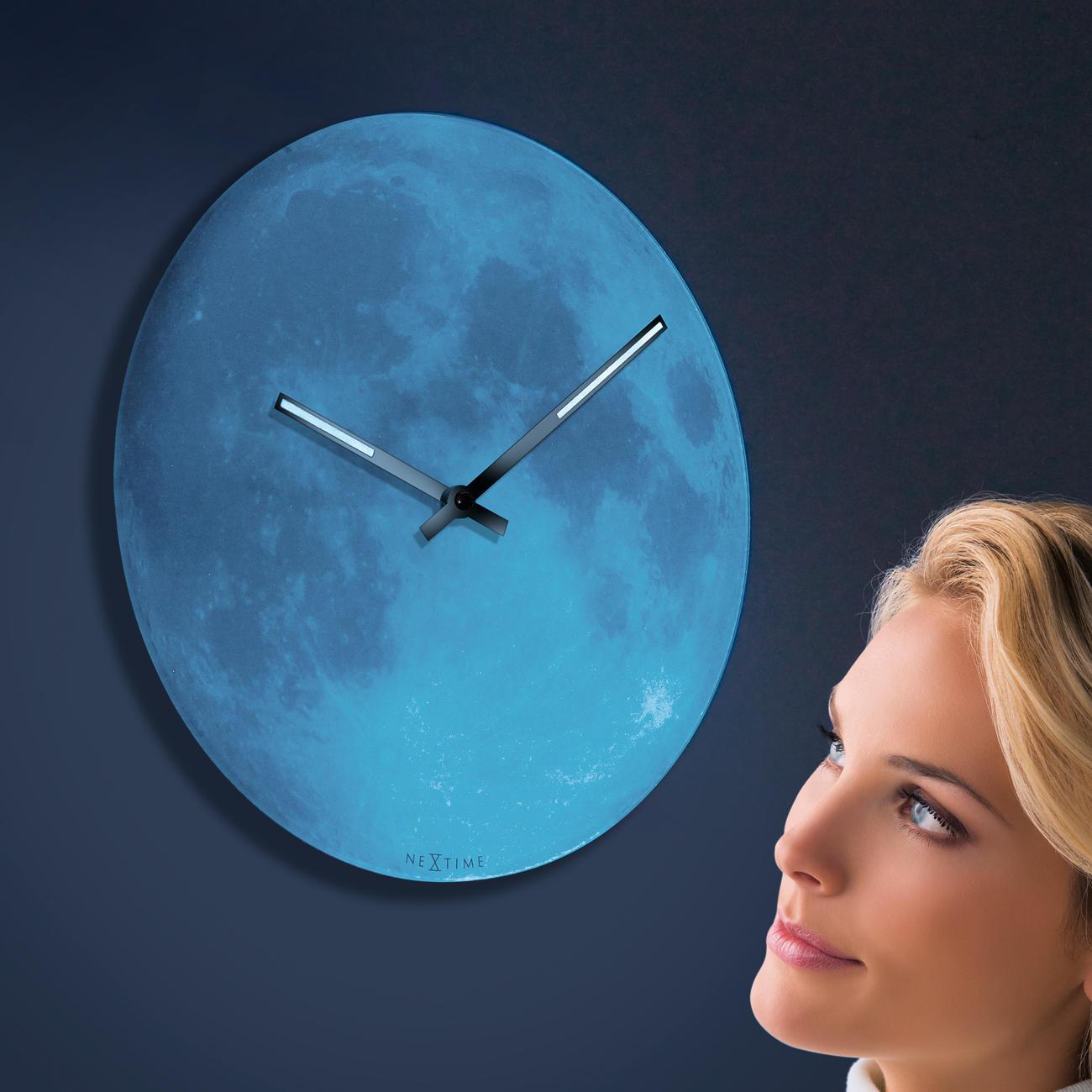 wanduhr blue moon 3 jahre garantie pro idee. Black Bedroom Furniture Sets. Home Design Ideas