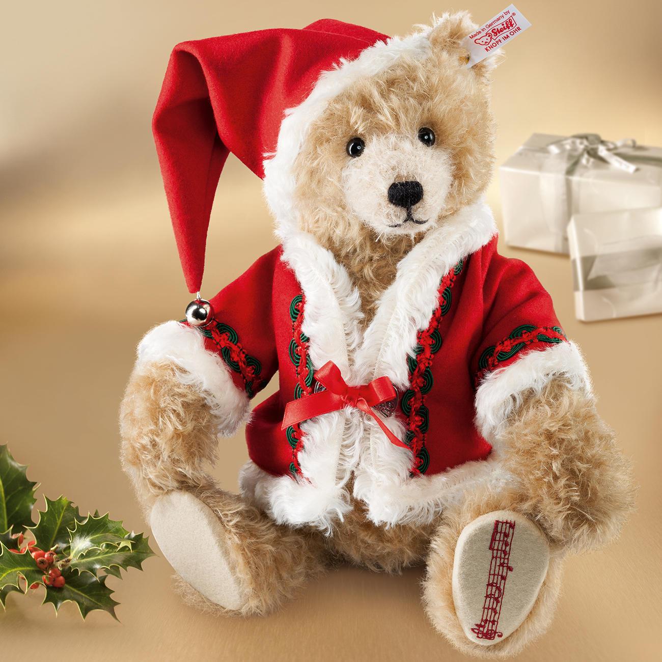 steiff weihnachts teddyb r 2014 mit 3 jahren garantie. Black Bedroom Furniture Sets. Home Design Ideas