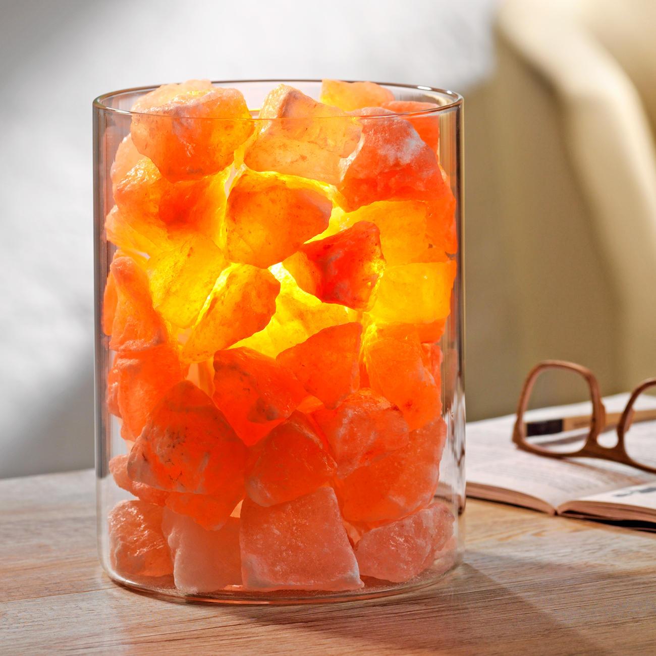 salz kristall feuer im glas mit 3 jahren garantie. Black Bedroom Furniture Sets. Home Design Ideas