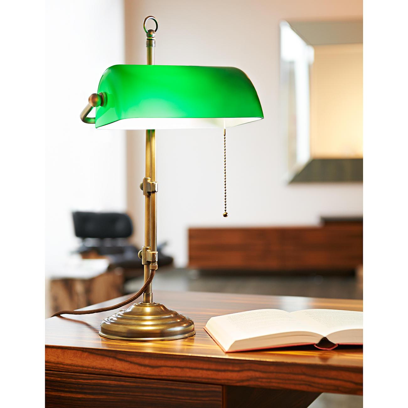 messing banker s lamp 3 jahre garantie pro idee. Black Bedroom Furniture Sets. Home Design Ideas