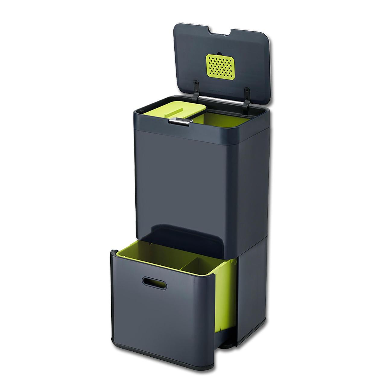 joseph joseph m lltrenn system intelligent waste 60 l wei gr n. Black Bedroom Furniture Sets. Home Design Ideas