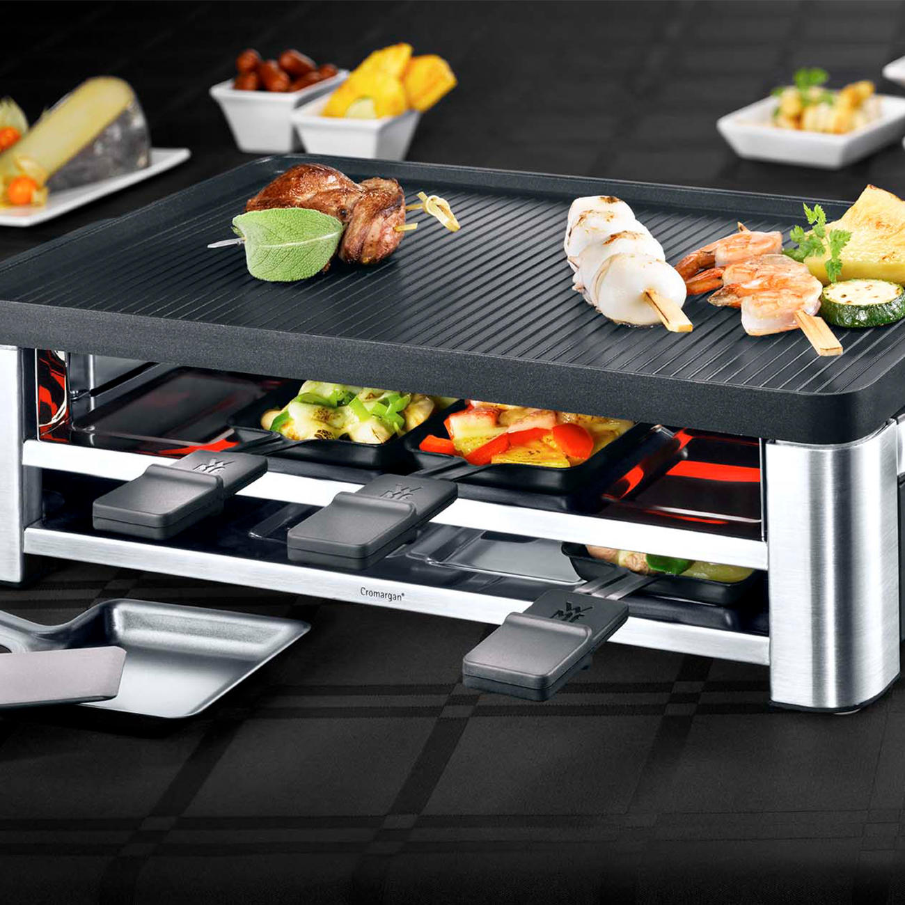 wmf kombi raclette lono 3 jahre garantie pro idee. Black Bedroom Furniture Sets. Home Design Ideas