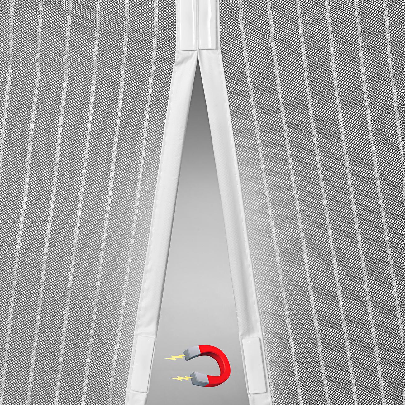 moskito vorhang mit magneten fliegengitter 100 x 210 cm. Black Bedroom Furniture Sets. Home Design Ideas