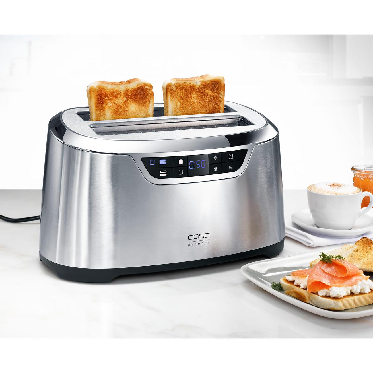 caso toaster novea t4 2777 1600 w edelstahl kaufen. Black Bedroom Furniture Sets. Home Design Ideas