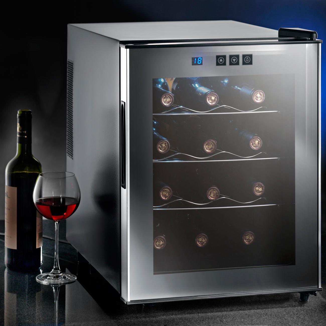 glas weinklimaschrank f r 8 flaschen oder 12 flaschen. Black Bedroom Furniture Sets. Home Design Ideas
