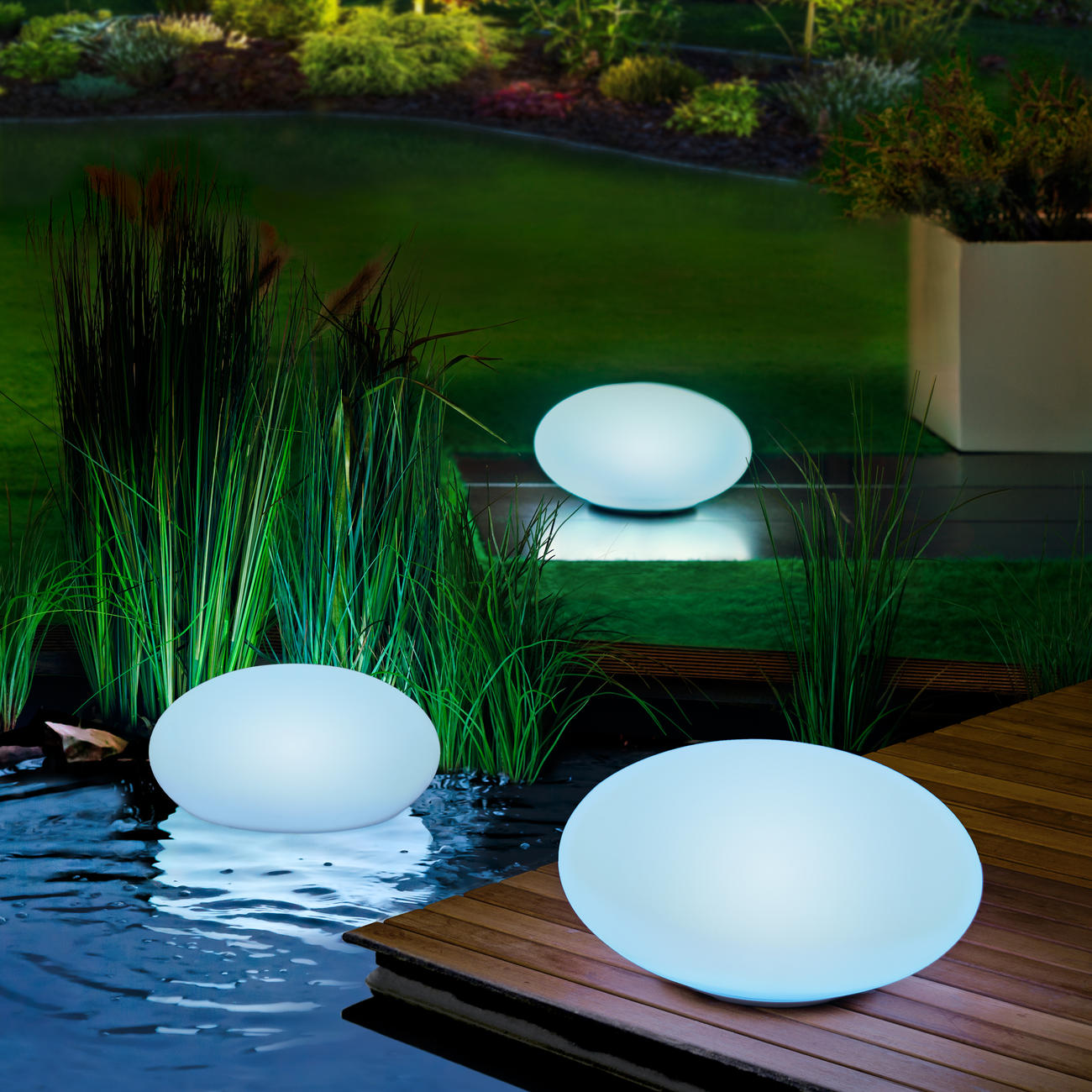 led solar gartenleuchte 30 cm oval online kaufen. Black Bedroom Furniture Sets. Home Design Ideas