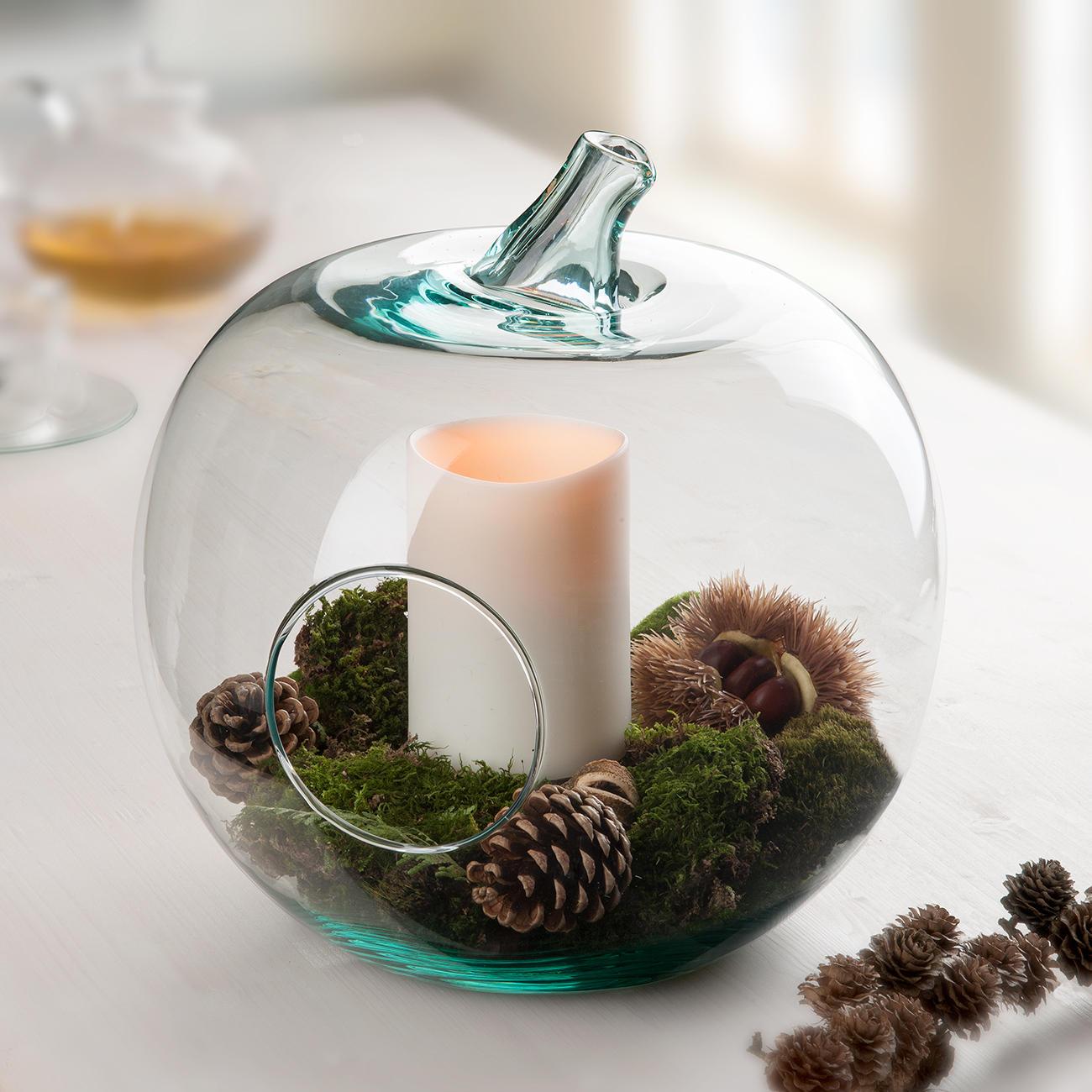 casablanca deko glas apfel windlicht 36 cm h 31 cm durchmesser. Black Bedroom Furniture Sets. Home Design Ideas