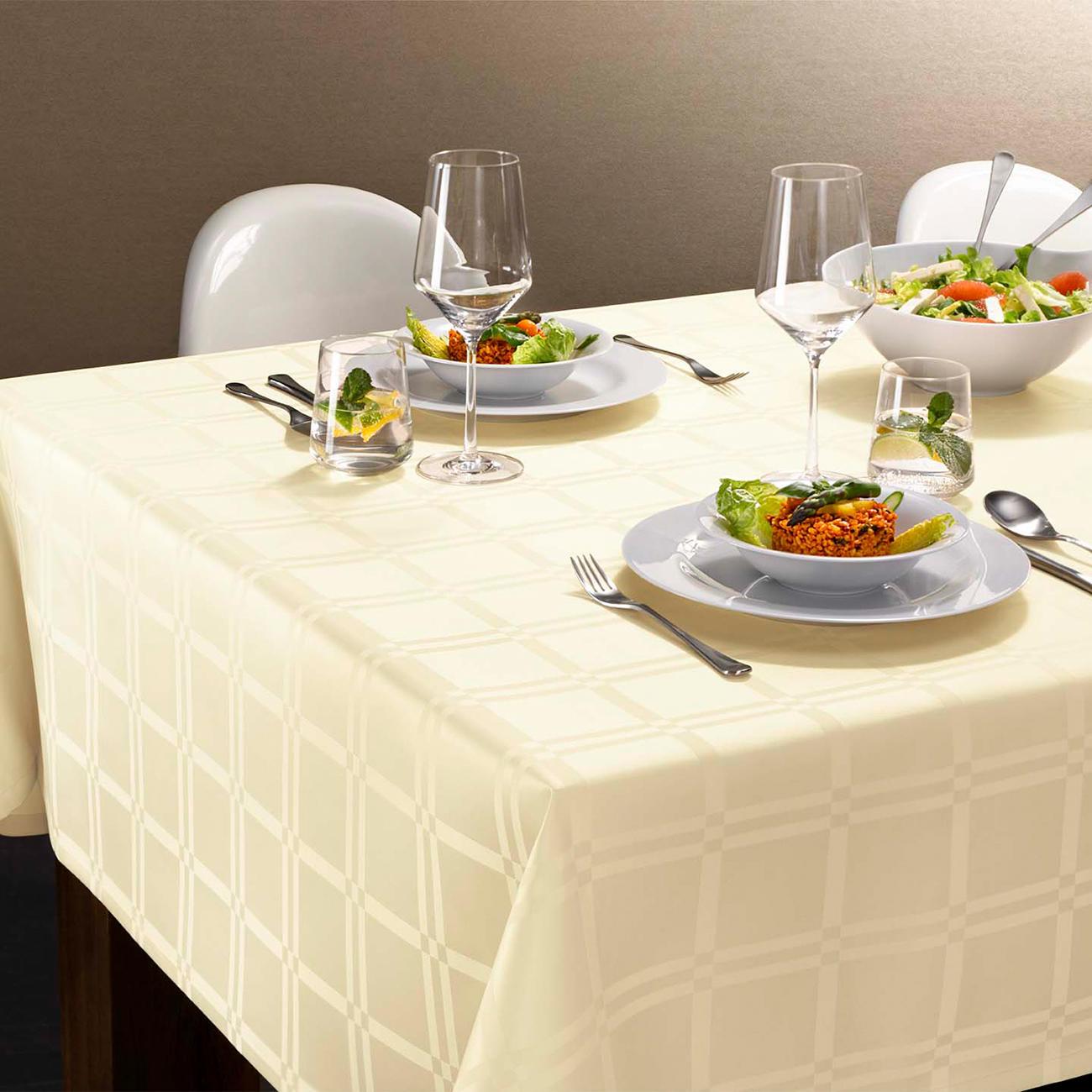 Fleckabweisende Tischdecke