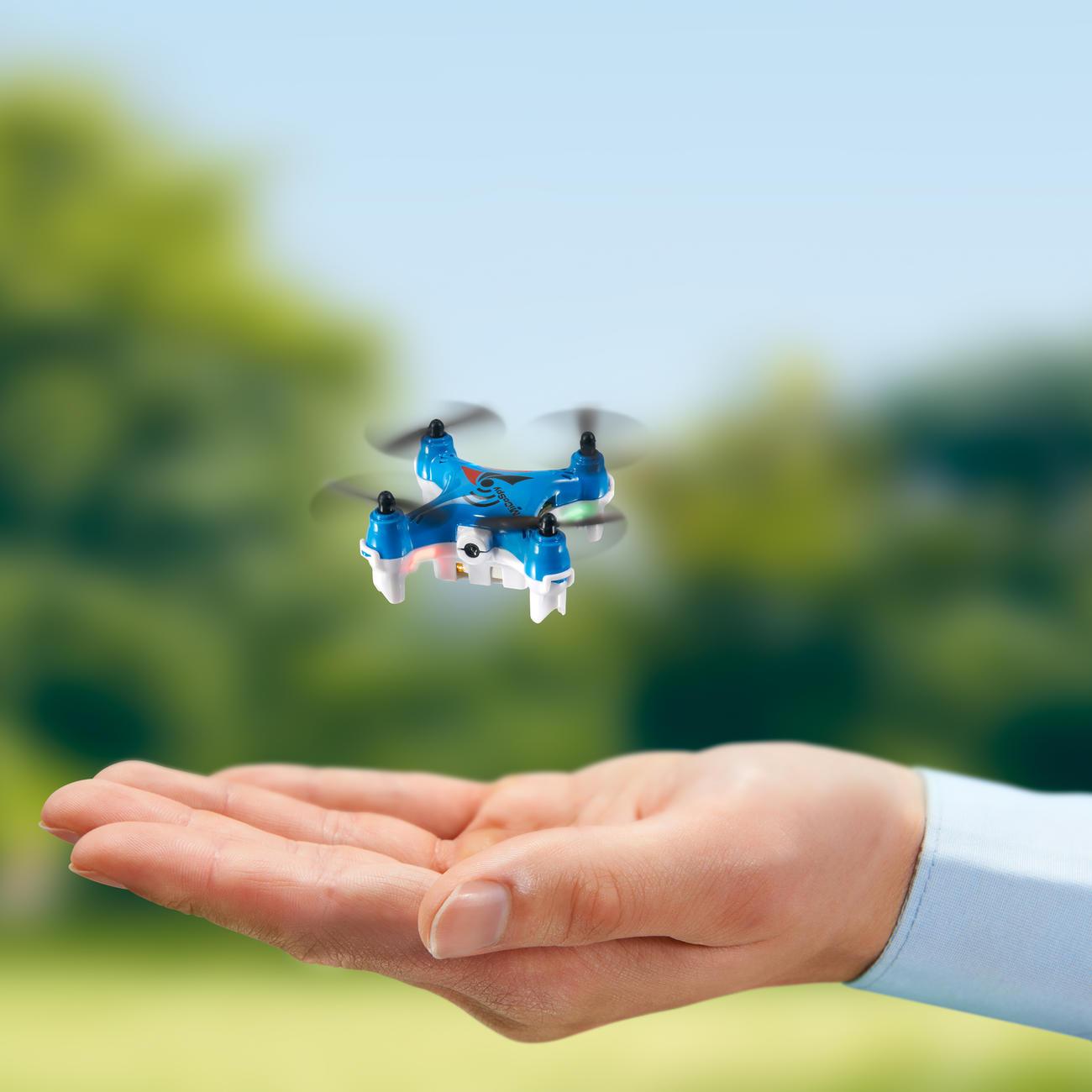 Mini-Copter mit Kamera Das 6-Achsen-Gyrosystem hält die Kamera-Drohne stabil in der Luft und sorgt für eine leichte und sichere Steuerung.