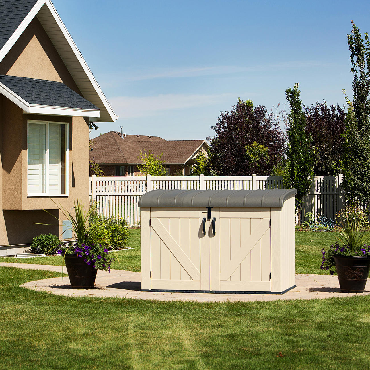 lifetime xxl kunststoff m lltonnenbox ger tebox. Black Bedroom Furniture Sets. Home Design Ideas