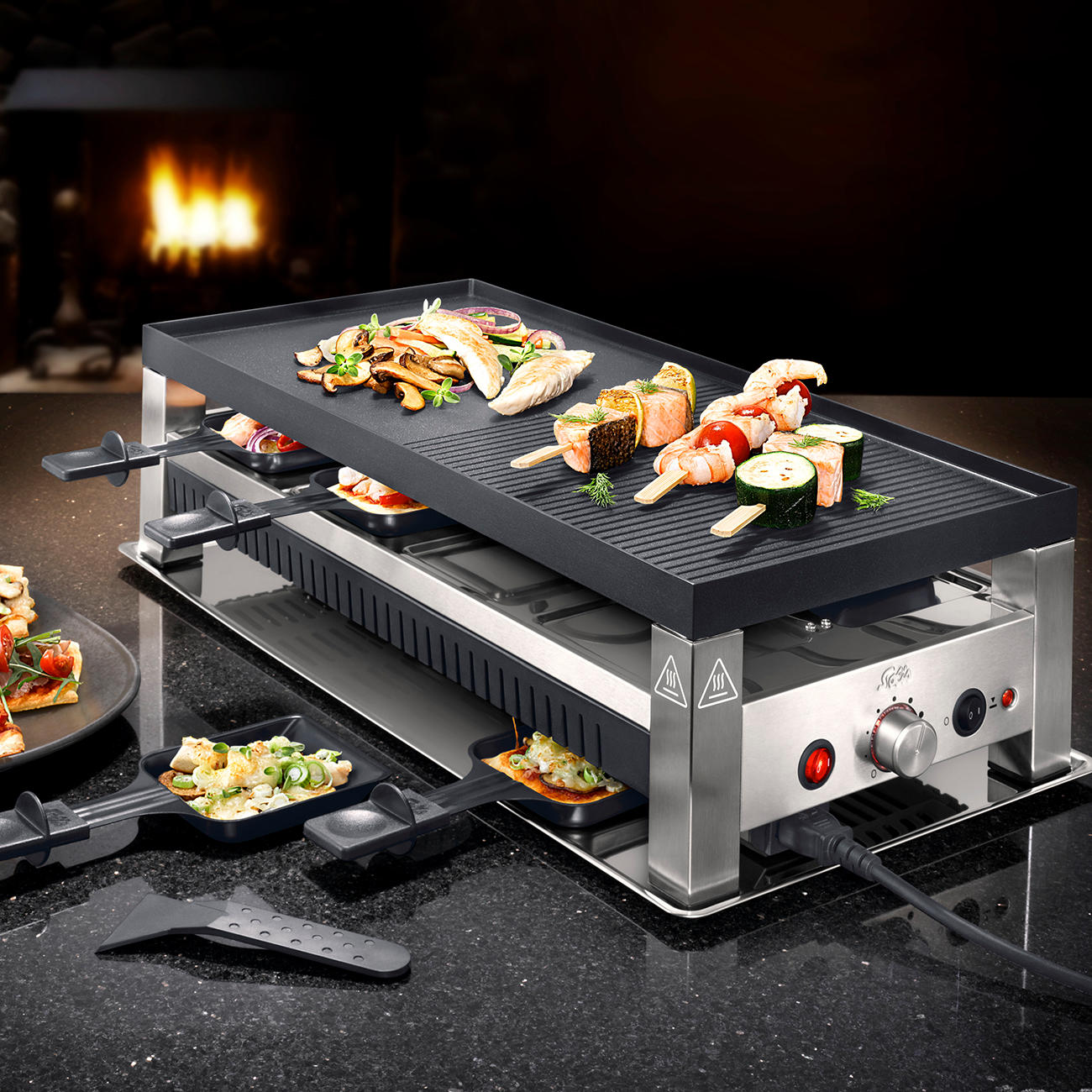 solis raclette tischgrill table grill 5 in 1 kaufen. Black Bedroom Furniture Sets. Home Design Ideas