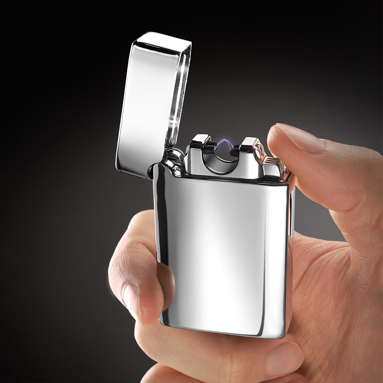 lichtbogen feuerzeug arc lighter mit 3 jahren garantie. Black Bedroom Furniture Sets. Home Design Ideas