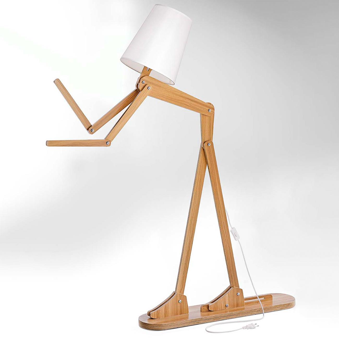 stehleuchte mensch linden sperrholz online kaufen. Black Bedroom Furniture Sets. Home Design Ideas