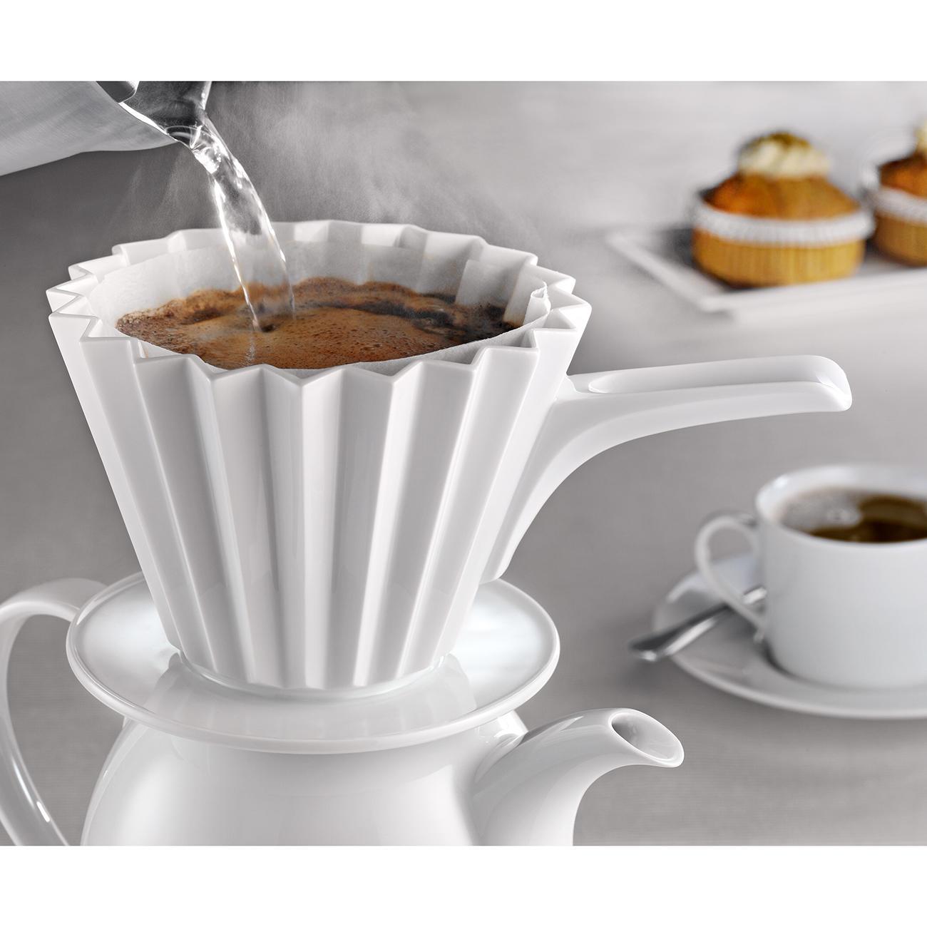 kpm kaffeefilter cafe berlin groesse  mit griff weiss