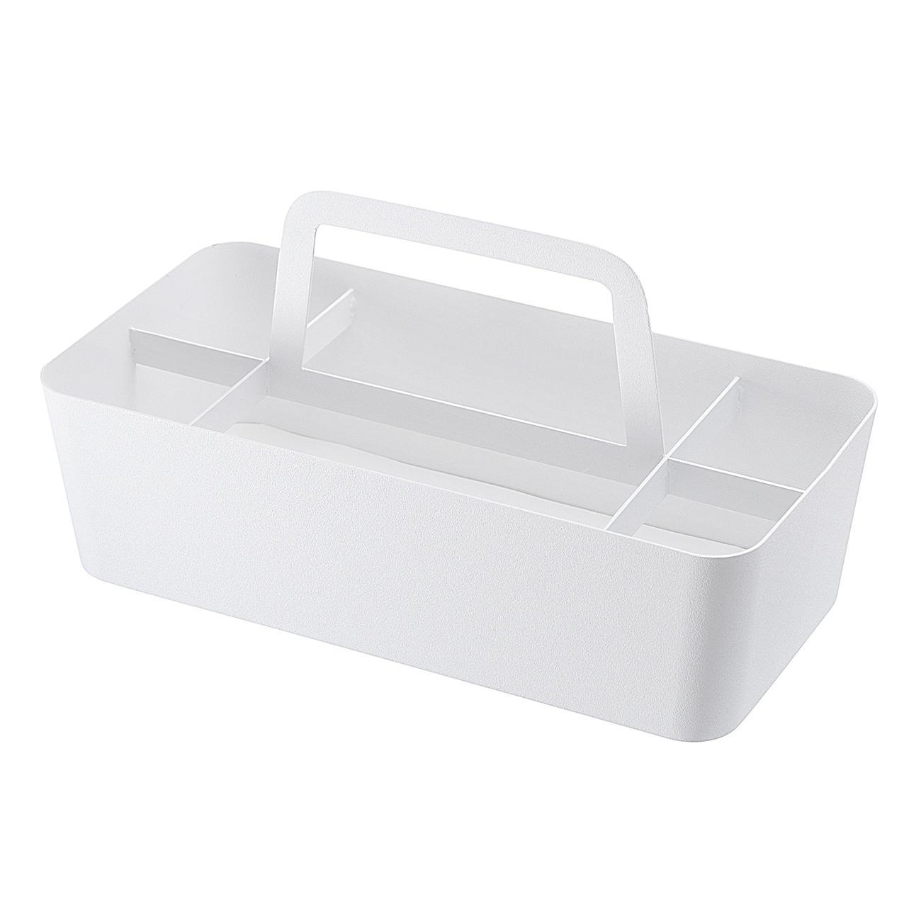 yamazaki aufbewahrungsbox pulverbeschichteter stahl wei. Black Bedroom Furniture Sets. Home Design Ideas