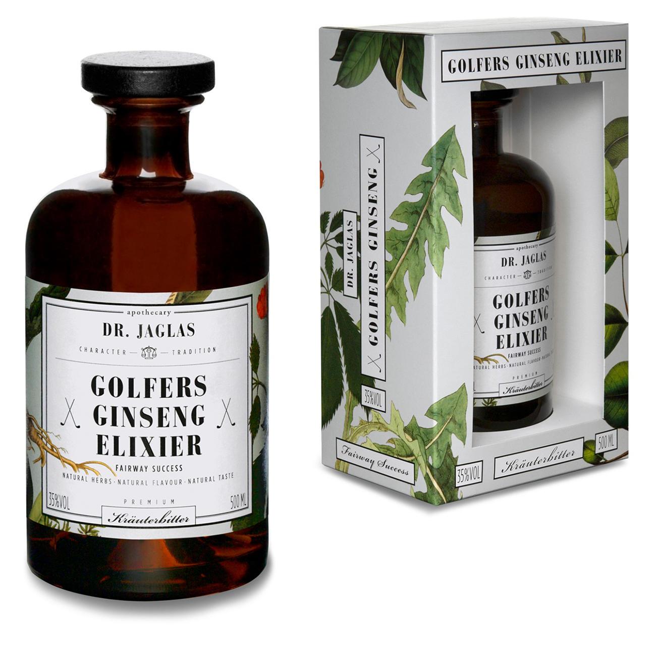 Golfers Ginseng-Elixier, 500 ml – mit 3 Jahren Garantie