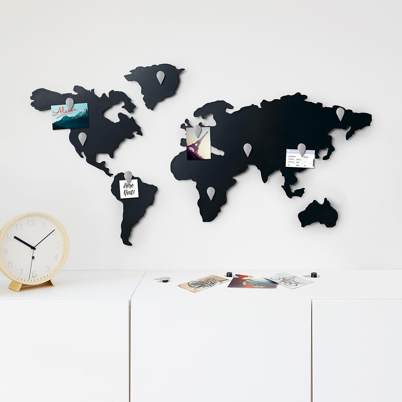 umbra pinnwand magnettafel wanddekoration mappit titanium schwarz. Black Bedroom Furniture Sets. Home Design Ideas