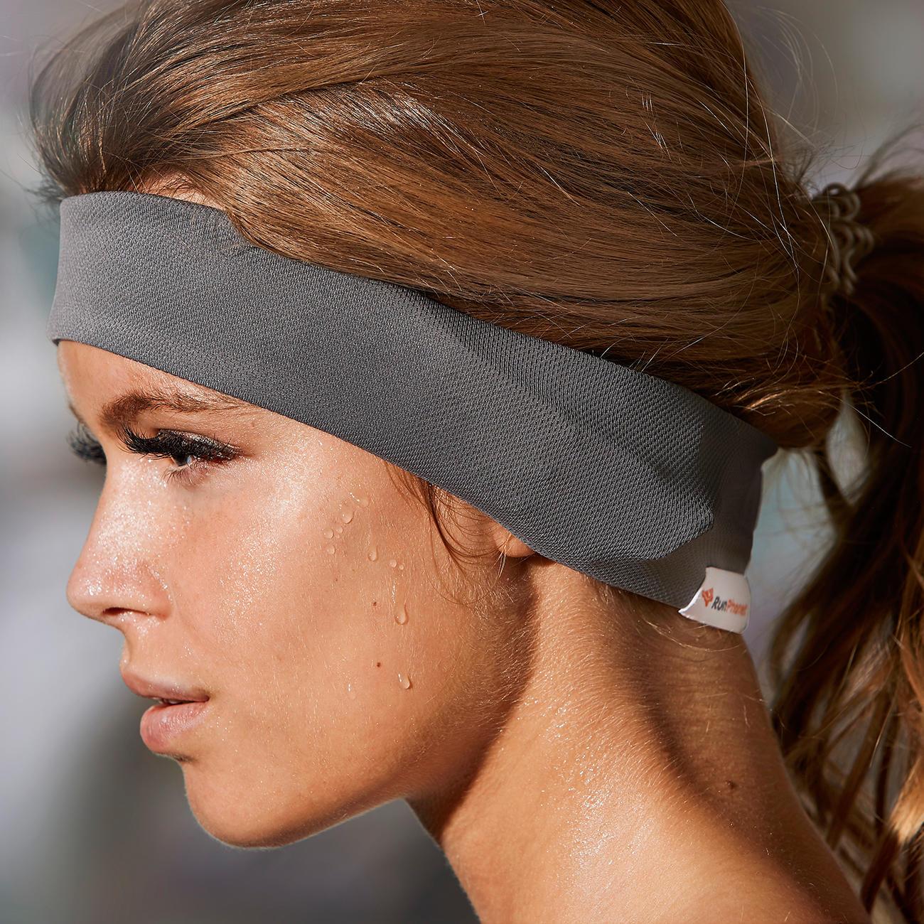 runphones stirnband mit bluetooth integriertem kopfh rer f r smartphone und mp3 player gr s grau. Black Bedroom Furniture Sets. Home Design Ideas