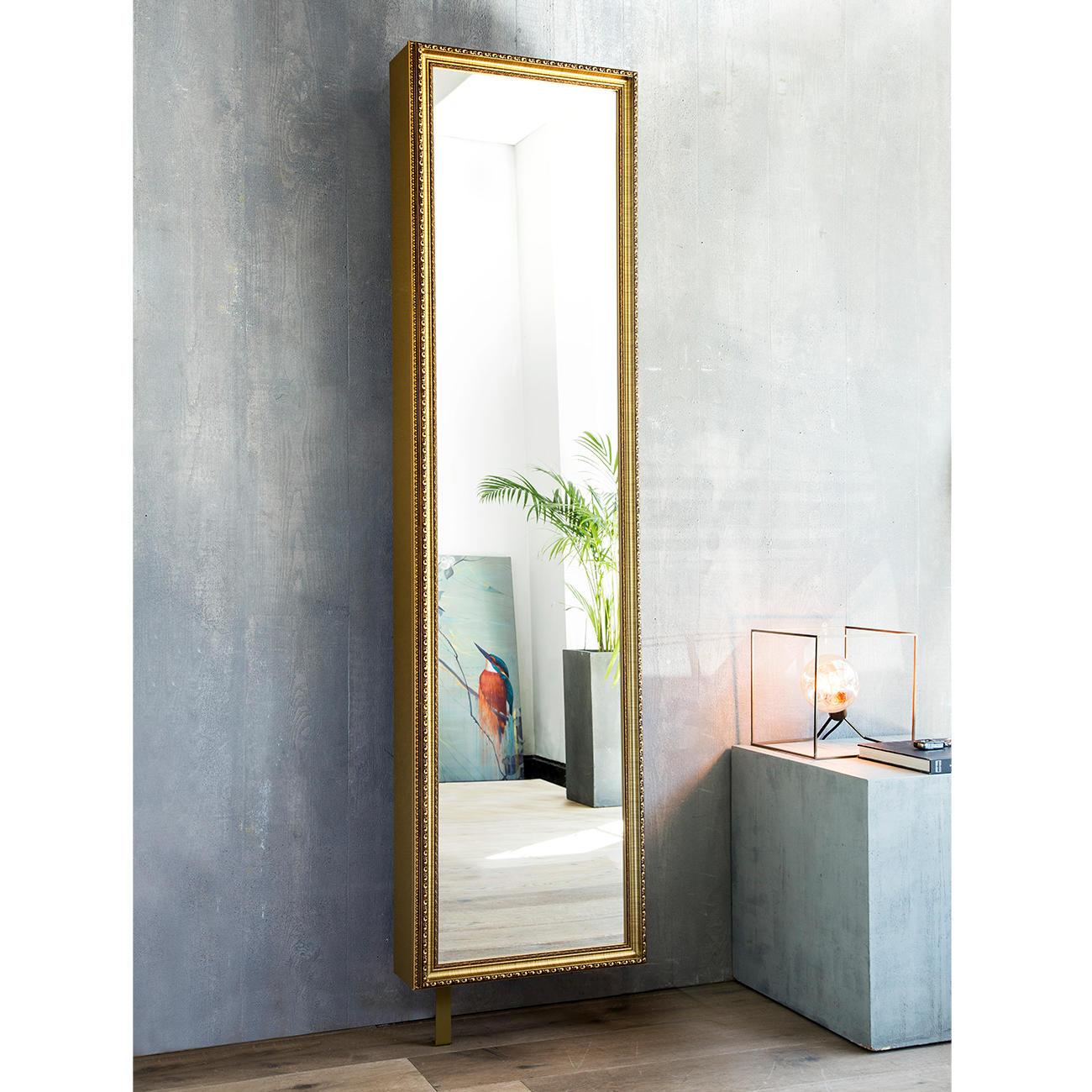 Spiegel-Drehschrank Barock, Gold – mit 3 Jahren Garantie