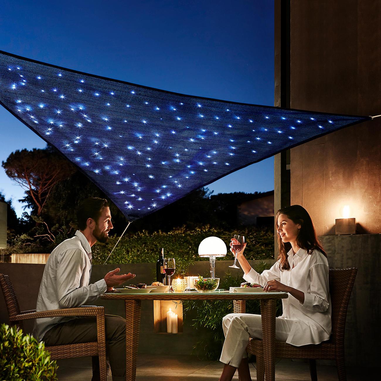 sonnensegel sternenhimmel mit 3 jahren garantie. Black Bedroom Furniture Sets. Home Design Ideas