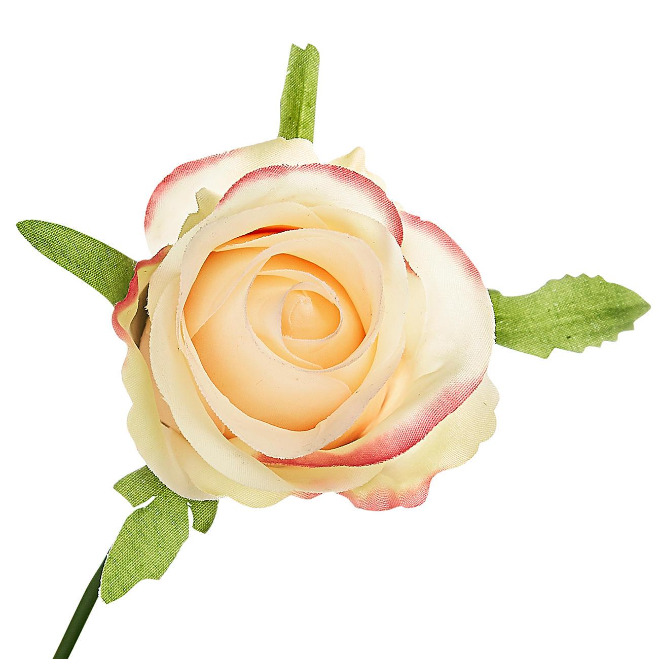 Seidenblumen 10 x Rose Edelrose grün Kunstblumen