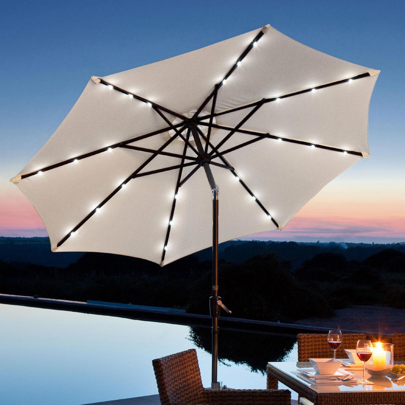 sonnenschirm sternenhimmel mit 3 jahren garantie. Black Bedroom Furniture Sets. Home Design Ideas
