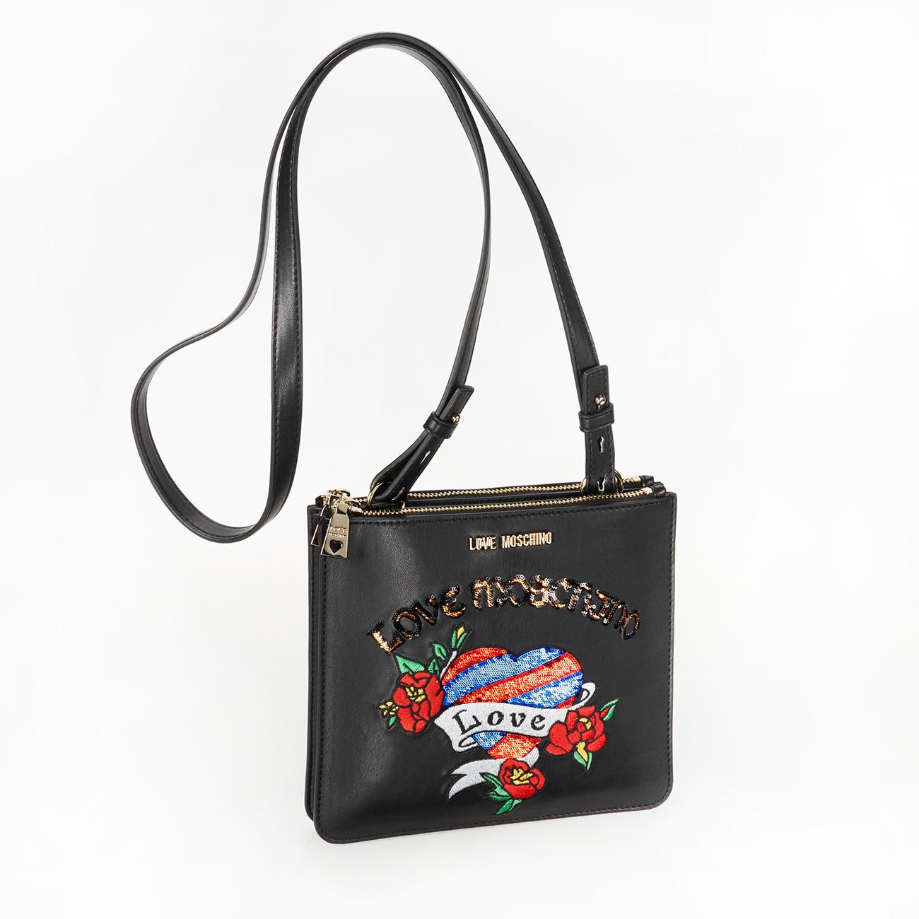 love moschino stitch bag designer highlights. Black Bedroom Furniture Sets. Home Design Ideas