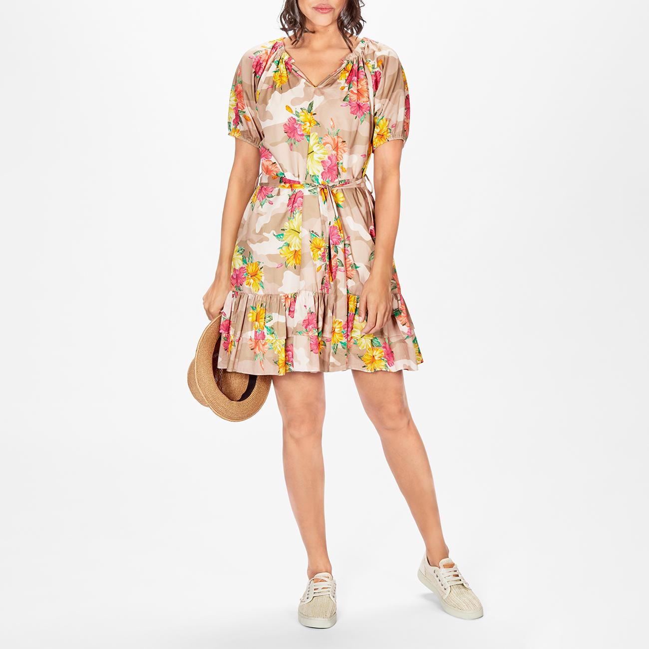 MY TWIN TWINSET Camouflage-Blumen-Kleid