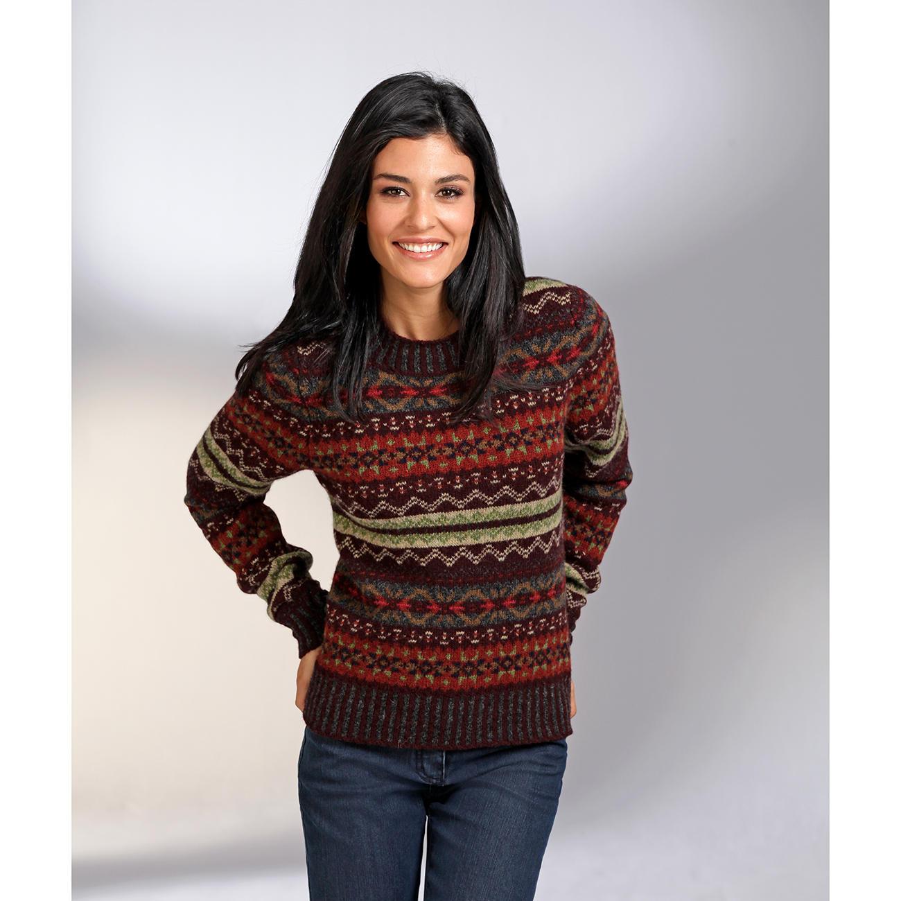 Erib fair isle pullover mode klassiker entdecken - Fair isle pullover damen ...