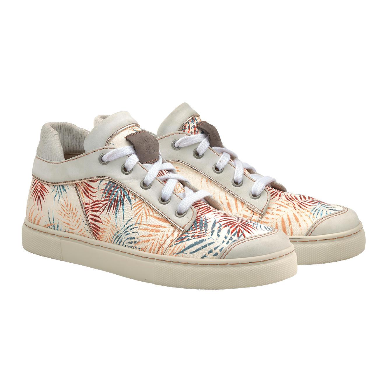 Chaaya Leder Sneaker Palmen Print | Klassiker entdecken