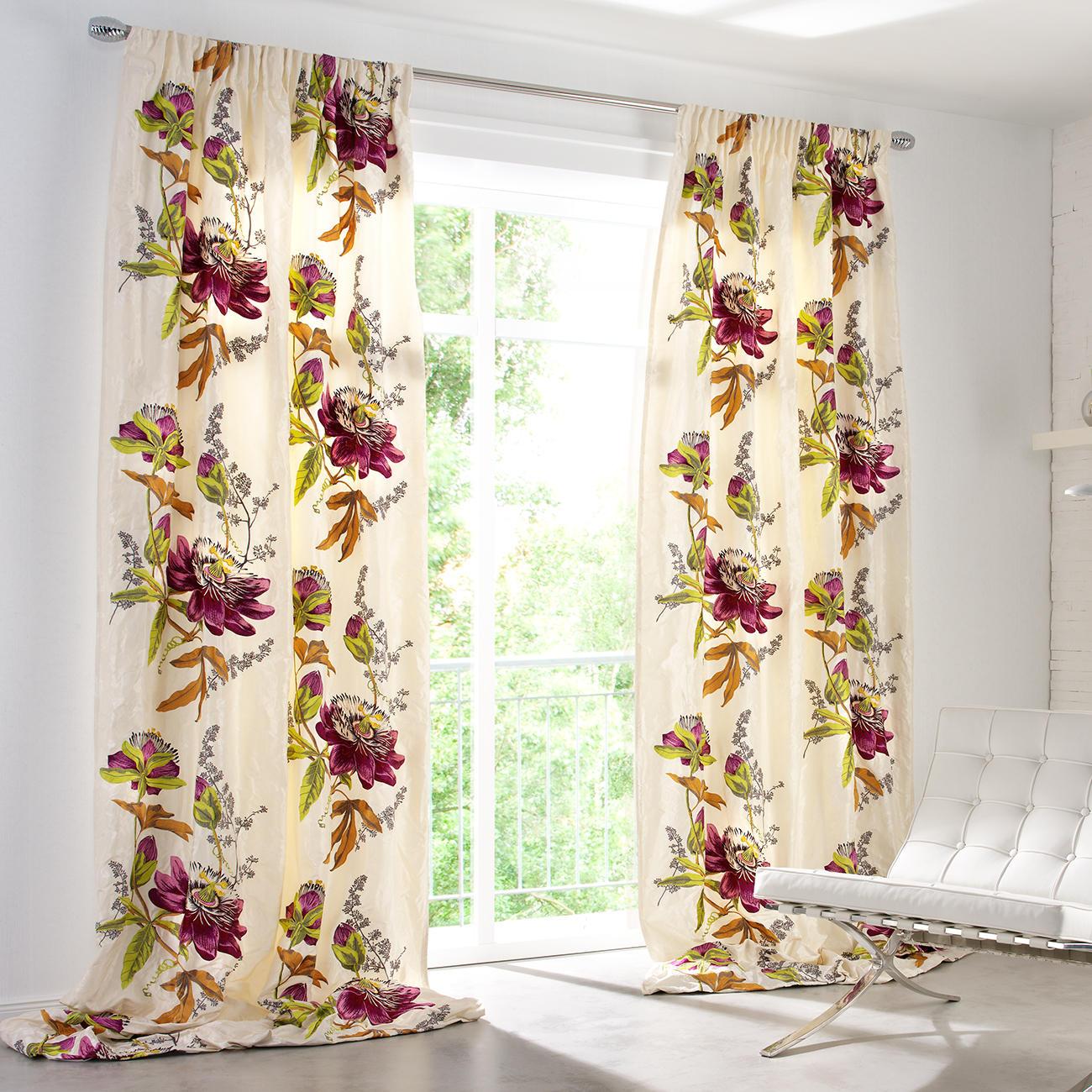 vorhang passion flower 1 st ck vorh nge online kaufen. Black Bedroom Furniture Sets. Home Design Ideas