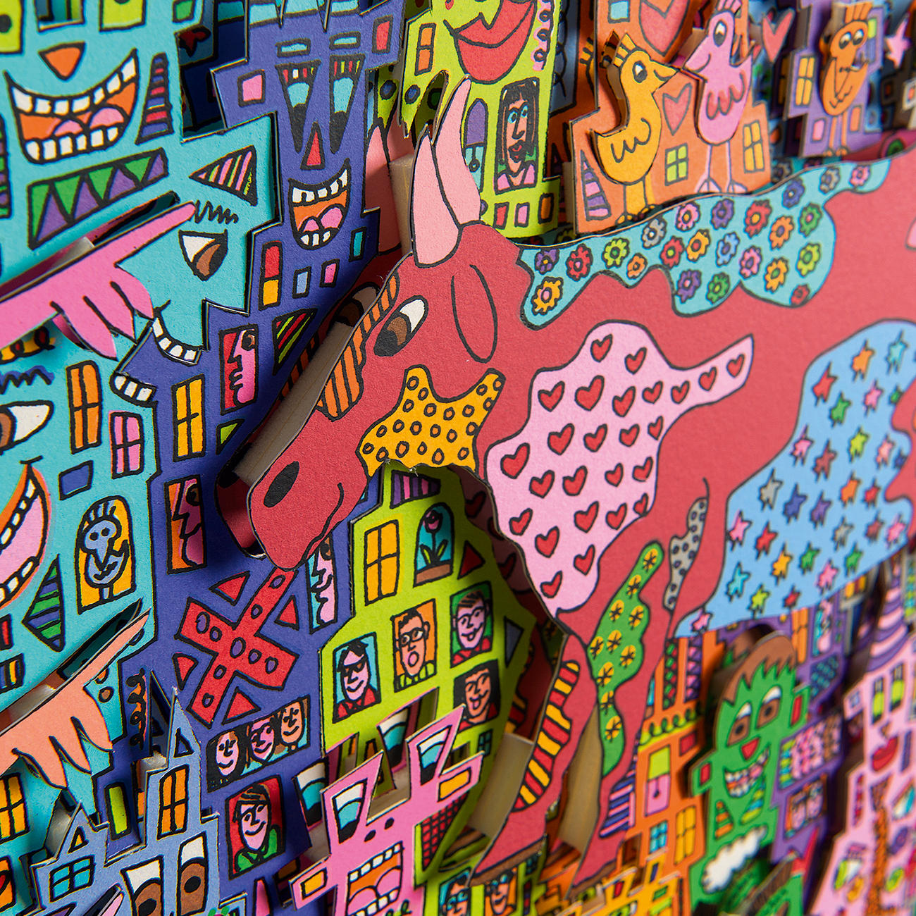 James Rizzi – Look – There are Cows in the City, 2000