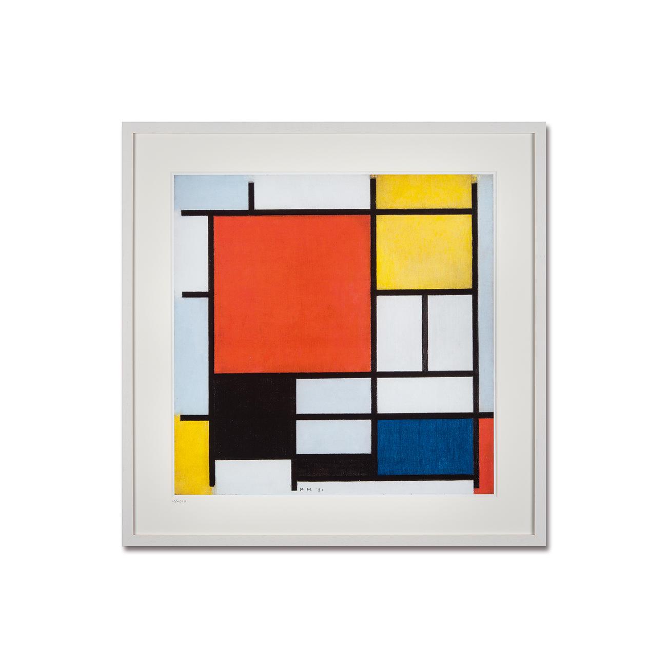 piet mondrian komposition mit rot gelb blau und schwarz 1926. Black Bedroom Furniture Sets. Home Design Ideas
