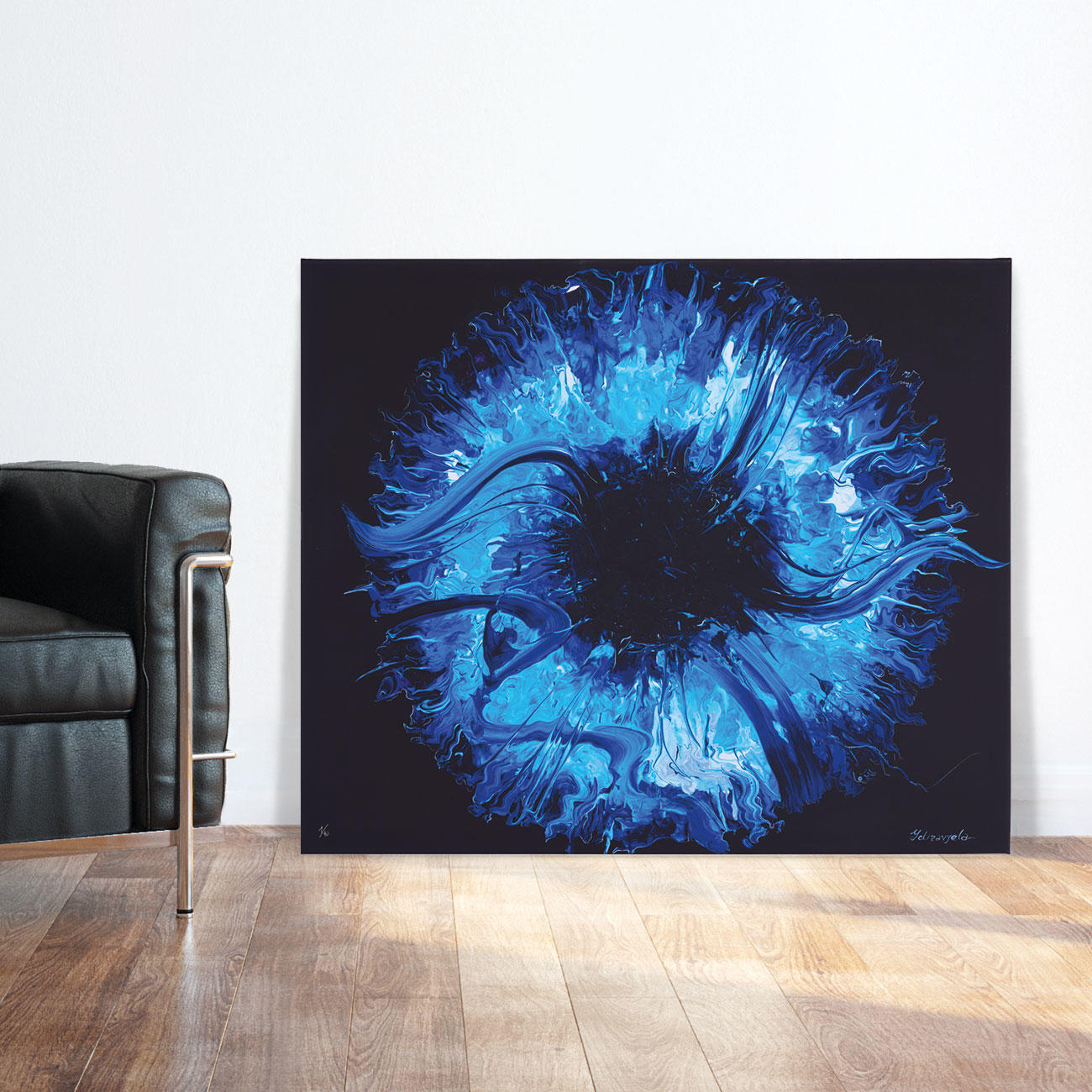 yelizavyeta blue space kaufen pro idee kunstformat. Black Bedroom Furniture Sets. Home Design Ideas