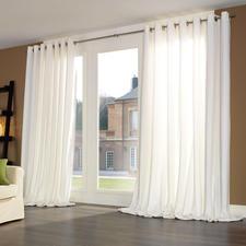 Vorhang Silent, Weiß - je 1 Stück - Samtweiches Spezialgewebe dämpft störenden Schall, verbessert die Raumakustik – und Ihr Wohlbefinden.