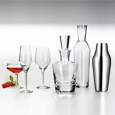 Shaker, Wasserkaraffe, Whiskeykaraffe, Allround-Weinglas, Champagner-Glas (leider bereits ausverkauft) und Cocktail-Schale