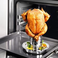 Hähnchen-Griller mit Aromaaufsatz - Mit Aromaaufsatz: So gelingt Ihr knuspriges Geflügel noch saftiger, noch aromatischer.