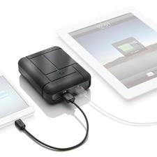 """Power-Akku """"Gum Max Duo™"""" - Die Hochleistungs-Powerbank: doppelt so viel Ladestrom gegenüber vergleichbaren Geräten."""