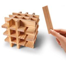 KAPLA-Würfel - Faszinierendes Holz-Puzzle. Kreatives Designobjekt. Die intelligenten Bausteine von Tom van der Bruggen.