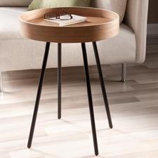 Tablett-Tisch - Mobiler Beistelltisch & zugleich praktisches Serviertablett. Betont schlichtes Design,außergewöhnlich gemasert.