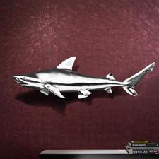 Hai-Trophäe inkl. Aufhängung - 1,17 m großer, faszinierender Blickfang. Kapitaler Hai aus Fiberglas. Kunstvoll handgefertigt.