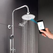 Bluetooth-Regenbrause - Geniale Gute-Laune-Dusche: verwöhnt Sie mit Ihrer Lieblingsmusik und belebendem Brauseregen.