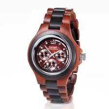 tense™ Holzarmbanduhr - Edles Sandelholz, aufwändig von Hand gefertigt. Mit Uhrwerk aus Japan. Zum erfreulich günstigen Preis.
