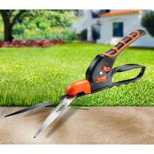 Gezahnte Rasenkanten-Schere - Endlich: eine Rasenkanten-Schere mit extrem scharf gezahnter Klinge. Schneidet selbst nasses Gras ohne Quetschen.