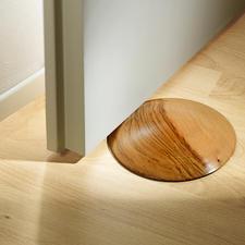 Teakholz-Türstopper - Die elegante Lösung, Türen zu fixieren. Geniale Form mit gewölbter Oberfläche. Jeder ein Unikat.