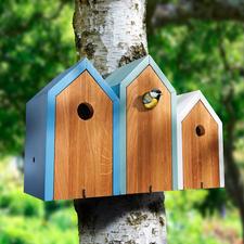 Nistkasten Reihenhaus - Eine fröhliche Nachbarschaft besiedelt jetzt Ihren Garten. Schön wohnlich und dekorativ.