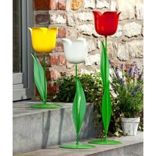 XL-Tulpe - Vielseitige Garten- und Wohnraumdekoration aus Metall. Imposante Größe. Extragroßer Blütenkelch.